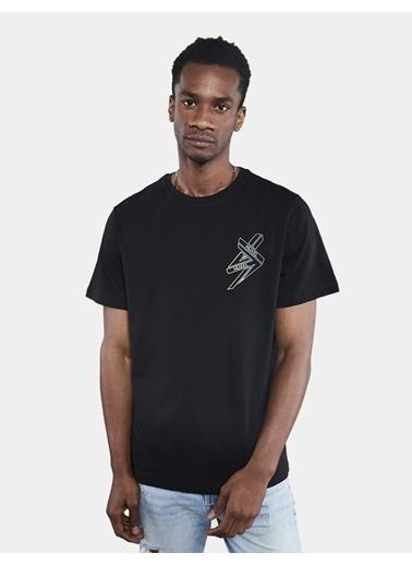 Huxel MUT012202-0HB Siyah Baskılı Oversi Siyah